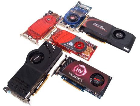 고성능 GPU를 식히는 냉각팬이 부착된 최신 그래픽카드들