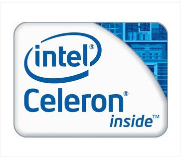 2012년 현재 판매중인 셀러론의 제품 로고.