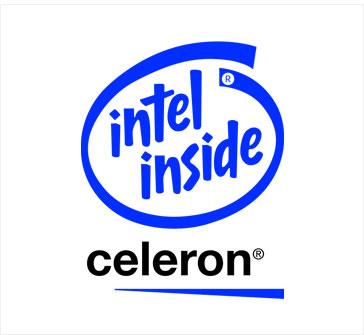초기형 셀러론의 제품 로고.